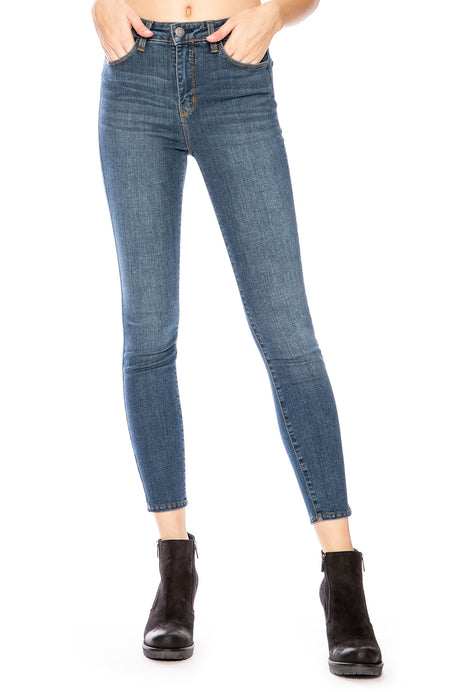 The Margot High Rise Ankle Skinny in Dark Vintage