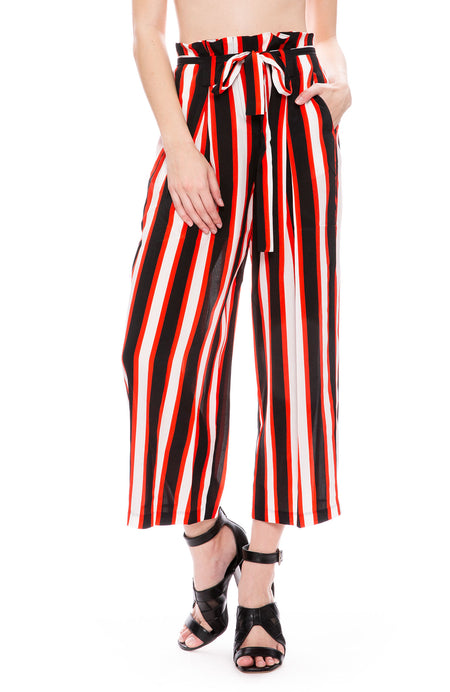 Wide Stripe Paperbag Pant