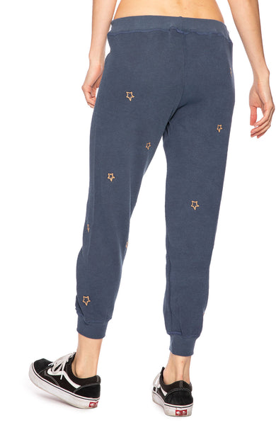 The Great Star Embroidered Sweatpants in Navy at Ron Herman