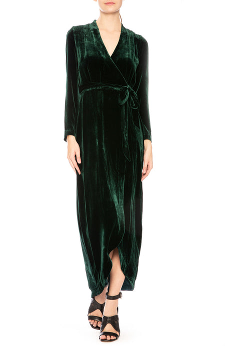 Reliah Velvet Wrap Dress