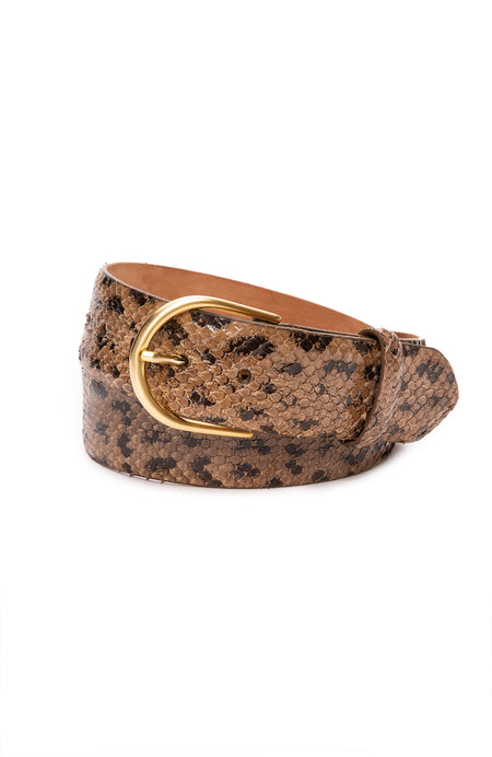 Anaconda Belt with Gold Buckle