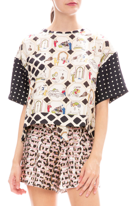 Multi Print Silk Shirt
