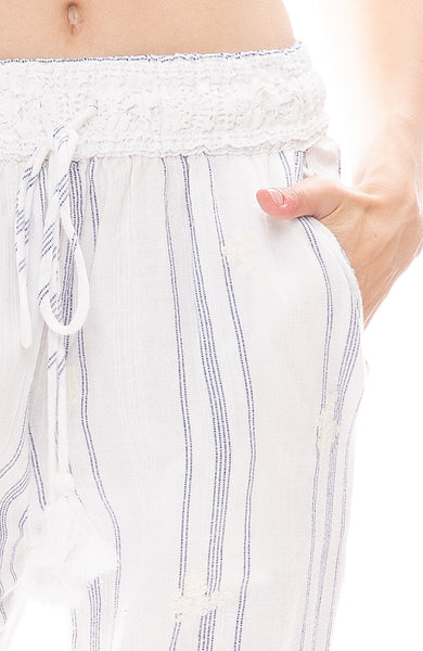 Bebe Embroidered Pants