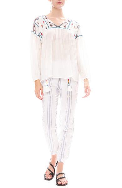 Star Mela Bebe Embroidered Pants with Sierra Embroidered Blouse
