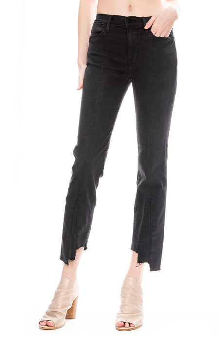 Le High Gusset Seamed Straight-Leg Jeans in Bombay