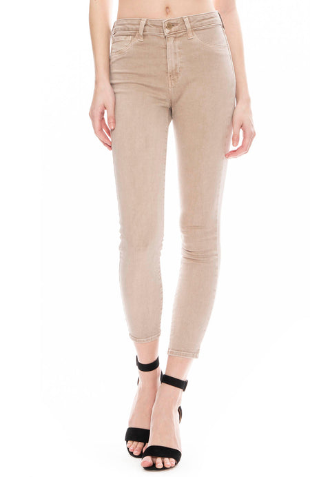 The Margot High Rise Ankle Skinny in Biscuit