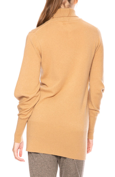 Soyer Victoria Cashmere Turtleneck Sweater in Camel at Ron Herman