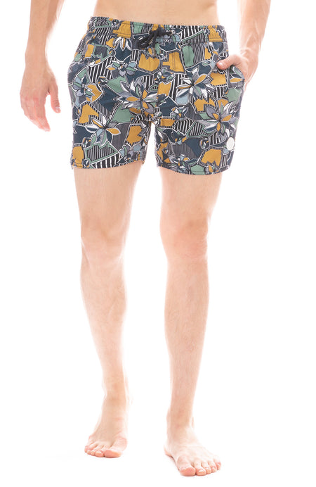 Geographic Floral Swim Short