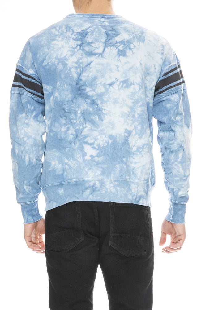 Remi Relif Mens Tie Dye Ribbed Stripe Sweatshirt