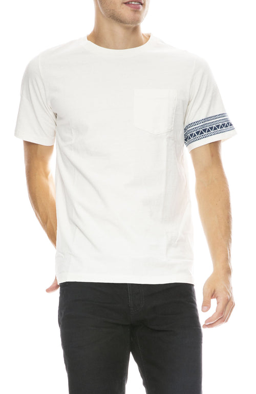 Remi Relief Mens Jacquard Stripe T-Shirt