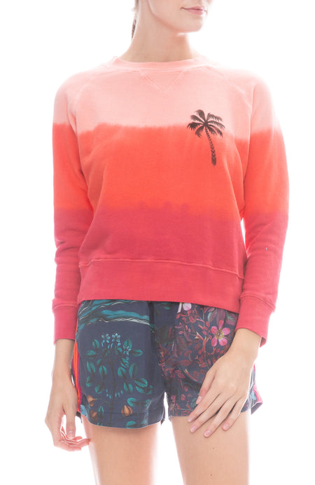 Palm Tree Tie-Dye Sweatshirt