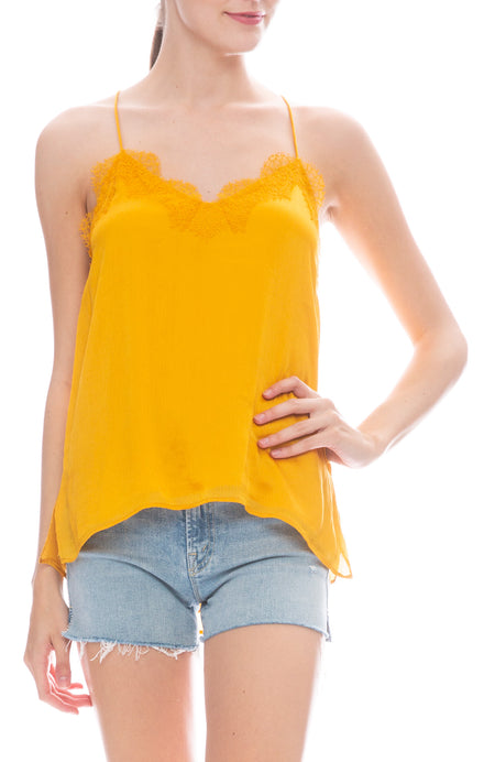 Racer Crinkle Cami in Honey