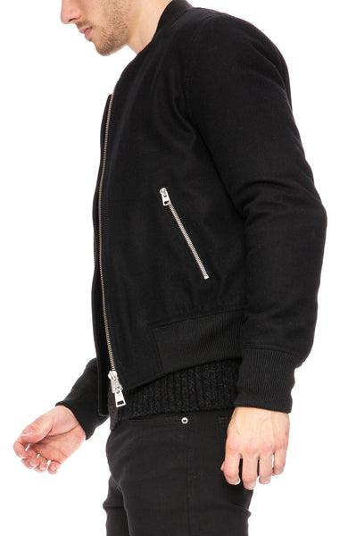 AMI Bomber Jacket with Two Way Zipper at Ron Herman