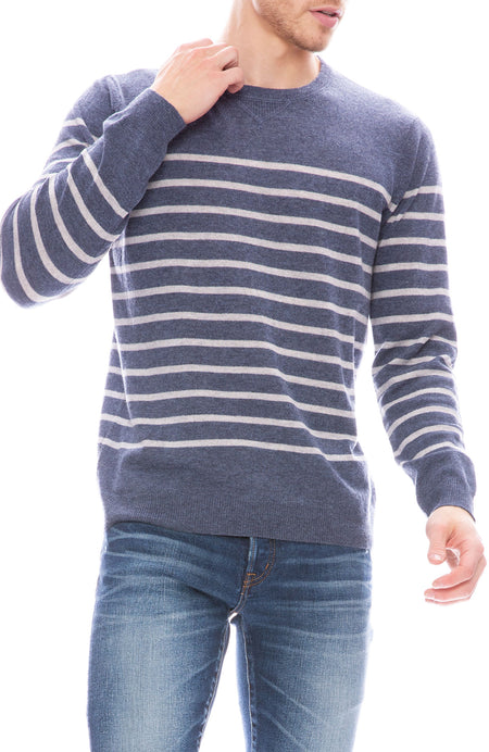 Exclusive Mariner Stripe Cashmere Sweater