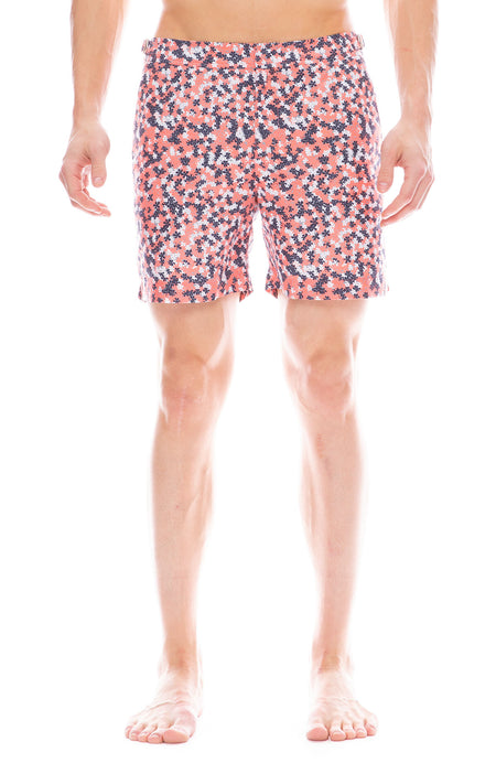 Bulldog Swim Short in Ninfea Hot Coral