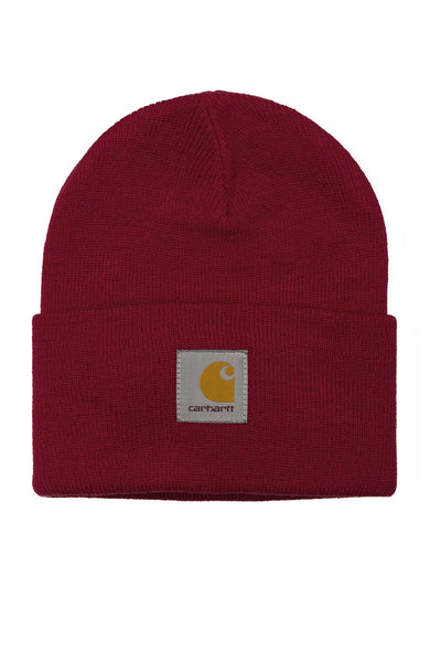 Carhartt WIP Mens Acrylic Watch Beanie in Blast Red at Ron Herman