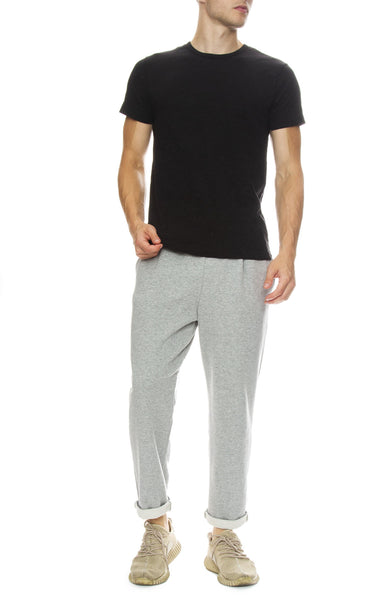 Hiro Clark Classic Tailored Sweatpants in Grey with Original Classic Tee in Black