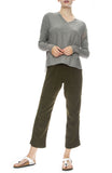 NSF Womens Bronte Karate Pant in Range with Alba Sweater in Grey