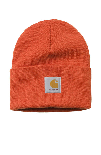 Carhartt WIP Mens Acrylic Watch Beanie in Persimmon at Ron Herman