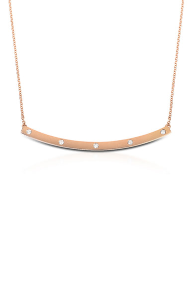 Carbon & Hyde High Five Bar Necklace in Rose Gold