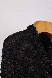 BLACK SCRUNCHY CARDIGAN, SIZE 10 | SWEET CHARITY STORE | AUCKLAND NZ