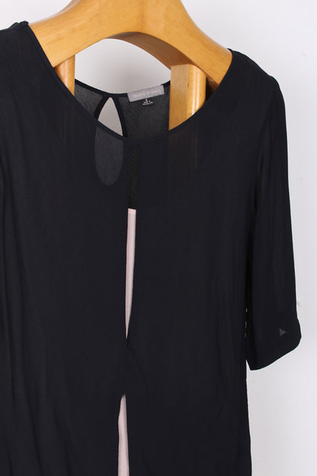 INGRID STARNES CONTRAST TOP, SIZE 8 | SWEET CHARITY STORE | AUCKLAND NZ