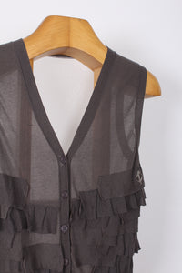 FRILLED VEST, SIZE M | SWEET CHARITY STORE | AUCKLAND NZ