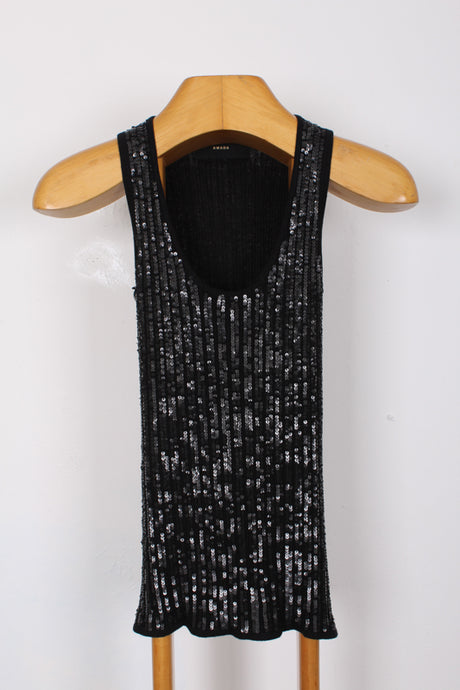 SLINKY SEQUIN TANK TOP, SIZE S | SWEET CHARITY STORE | AUCKLAND NZ