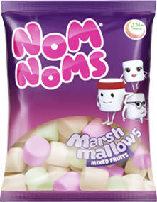 NOM NOMS MIX FRUIT MARSH MALLOWS 150GM