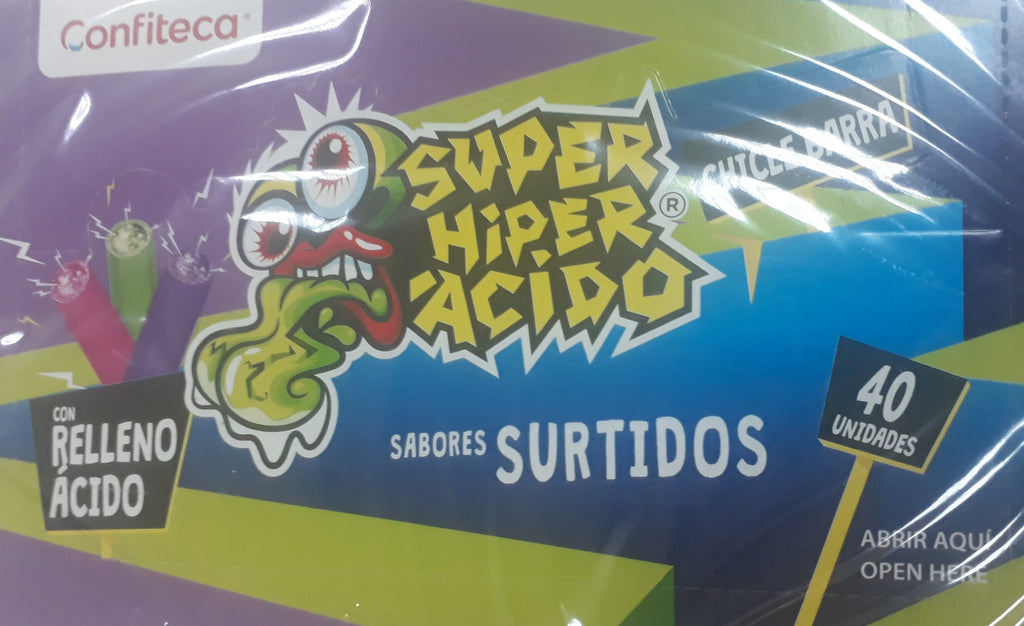 SUPER HYPER ACIDO SABORES SURTIDOS 40 PC