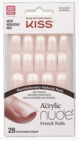 KISS Salon Acrylic French Nude Nails
