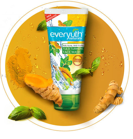 EVERYUTH F/WASH TULSI TURMERIC 150GM