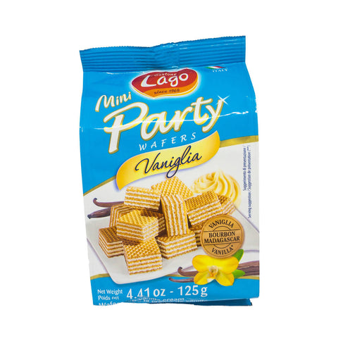 LAGO MINI PARTY WAFER VANILA 125GM