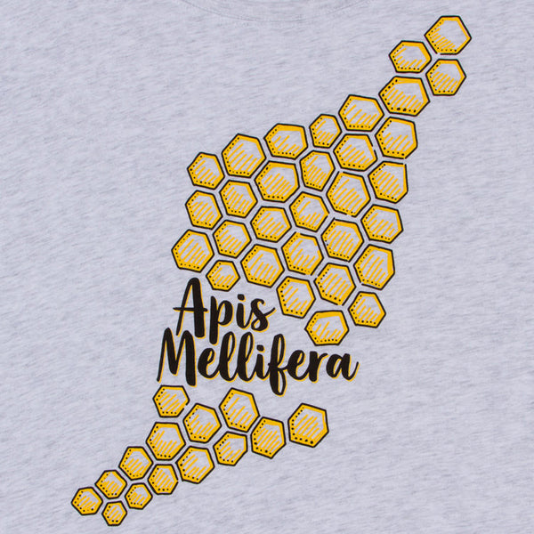 Honeycomb Women's T-shirt. Bright comb makes a true eye catcher. Modern and original, you'll look like the smart confident woman you are. Start wearing your new favorite shirt today.  Buttery soft triblend, preshrunk, fits true to size.  FREE package of wildflower seeds with your order. We want to help provide nectar, pollen and shelter to our beloved pollinators.  We Love Bees!!
