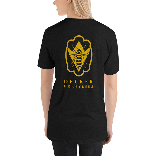 Decker Honeybees Logo T-Shirt Unisex. Soft and lightweight with the right amount of stretch. It's comfortable and flattering for both men and women. Make a statement with this awesome bee.   100% combed and ring-spun cotton (heather colors contain polyester), true to size.