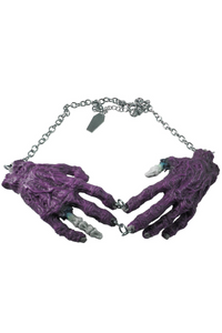 Zombie Hands Necklace (Purple)