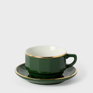 Apilco Green Porcelain Cup & Saucer | Vespiary