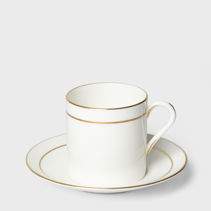 White China Cup & Saucer