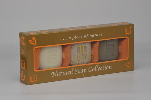 NATURAL SOAP COLLECTION 3 TYPES (BLACK - EXFOLIANT - MINERAL)