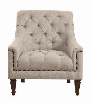 Avonlea Stone Grey Living Room Set Tufted