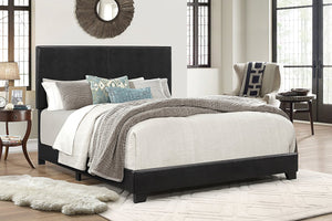 ERIN FAUX LEATHER BED BLACK