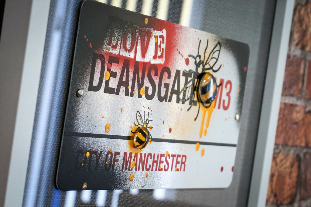 Street Sign Art - Deansgate The Hive