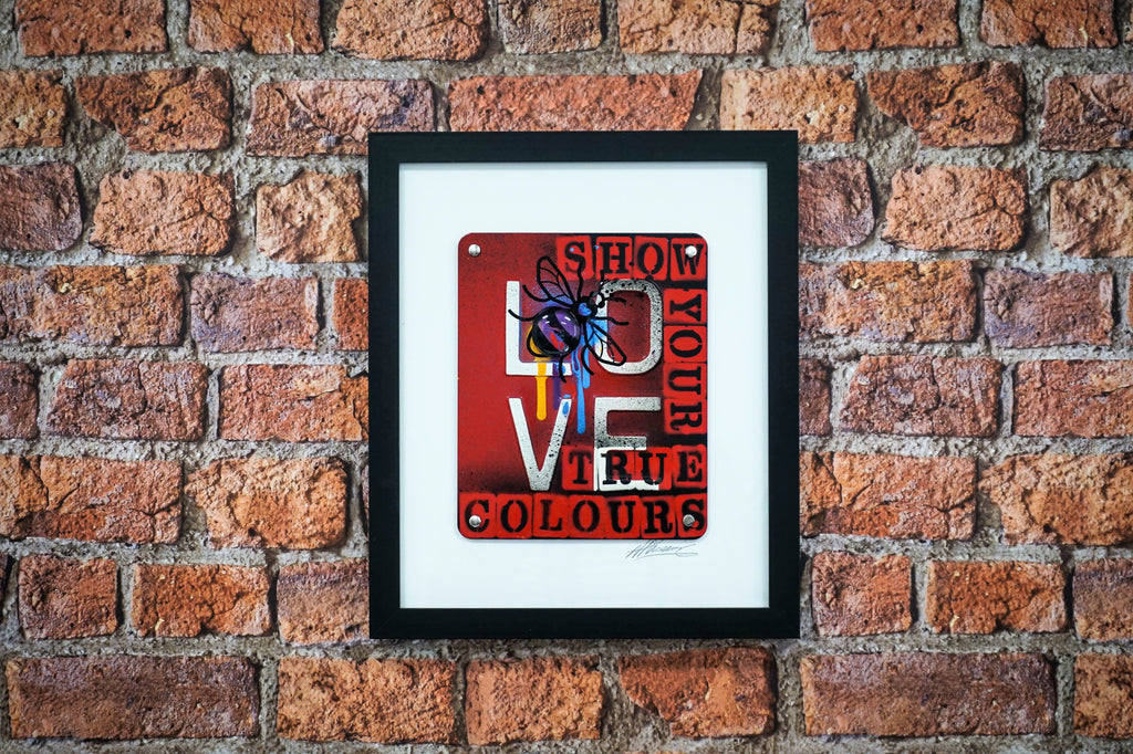 Manchester Love Glass Art - Show your true colours