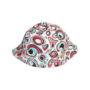 White Retro Spots Hat