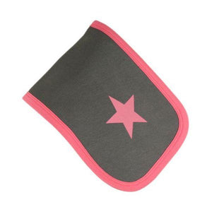 Grey & Pink Star Burp Cloth