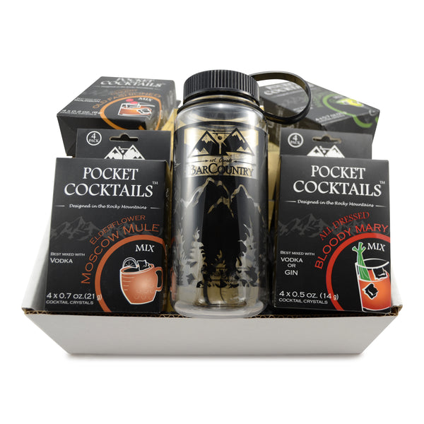 Pocket Cocktails Adventure Kit (variety pack) 8 Packs + Cocktail Shaker