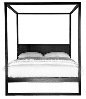 STRAND FOUR POSTER BED FRENCH OAK - BLACK