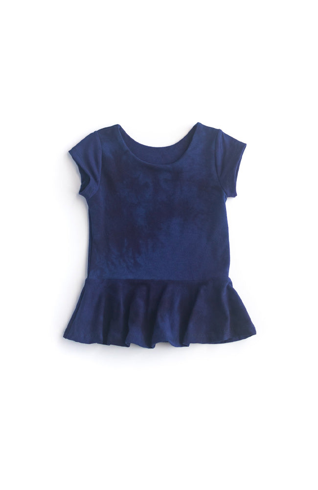 Strong Navy Peplum Top