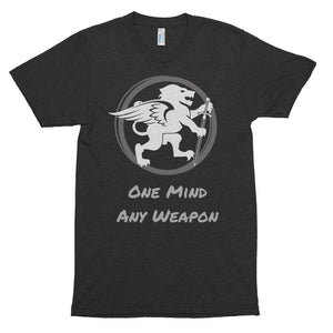 """One Mind - Any Weapon"" Short sleeve soft t-shirt"