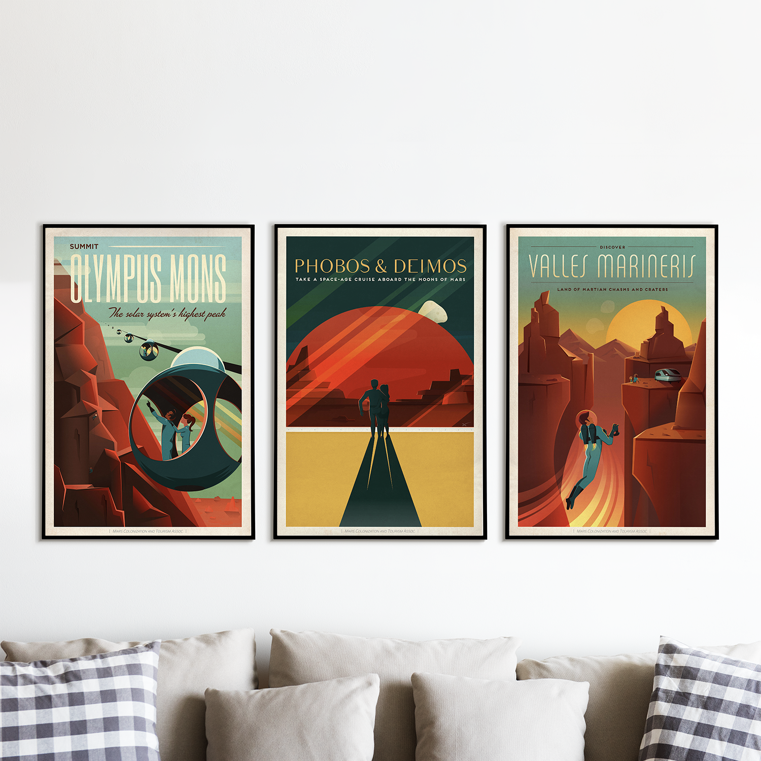 SpaceX Vintage Space Travel Posters